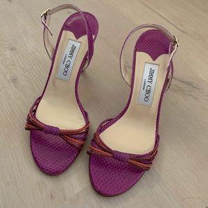 Vintage Jimmy Choo Pink Strap Heels